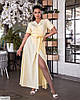 Женское батальное платье однотонное за запах, большой размер 48 50 52 54 56 58 60 62, фото 4