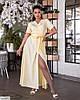 Жіноче батальне однотонне плаття за запах, великий розмір 48 50 52 54 56 58 60 62, фото 4