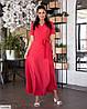 Жіноче батальне однотонне плаття за запах, великий розмір 48 50 52 54 56 58 60 62, фото 5