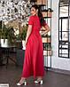 Женское батальное платье однотонное за запах, большой размер 48 50 52 54 56 58 60 62, фото 6
