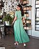 Жіноче батальне однотонне плаття за запах, великий розмір 48 50 52 54 56 58 60 62, фото 7