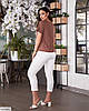 Жіночий брючний базовий батальний костюм двійка (штани і блузка) великий розмір 48 50 52 54 56 58 60 62, фото 4
