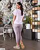 Жіночий брючний базовий батальний костюм двійка (штани і блузка) великий розмір 48 50 52 54 56 58 60 62, фото 5