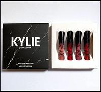 Набор матовых помад Kylie Black 4 штуки в мраморной упаковке SKL11-291001