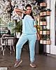 Жіночий стильний велюровий спортивний-прогулянковий костюм у великому розмірі батальний, фото 3