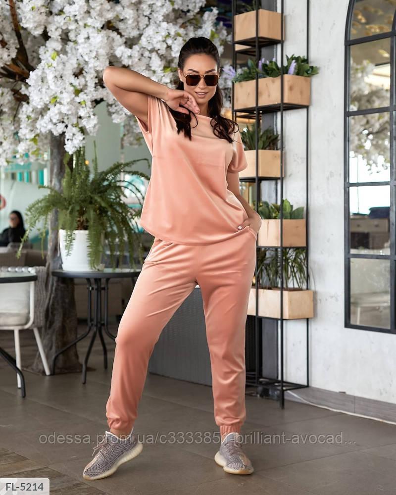 Жіночий стильний велюровий спортивний-прогулянковий костюм у великому розмірі батальний