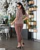 Жіночий модний лляної батальний брючний костюм двійка (блузка в горох і штани) розмір 48 50 52 54 56 58 60 62, фото 3