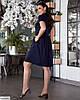 Жіноче лляне плаття сорочка по коліно батальне великий розмір 48 50 52 54 56 58 60 62, фото 2