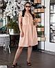 Жіноче лляне плаття сорочка по коліно батальне великий розмір 48 50 52 54 56 58 60 62, фото 3