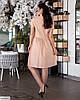 Женское льняное платье рубашка по колено батальное большой размер 48 50 52 54 56 58 60 62, фото 4