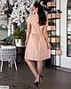 Жіноче лляне плаття сорочка по коліно батальне великий розмір 48 50 52 54 56 58 60 62, фото 4