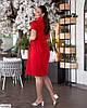 Жіноче лляне плаття сорочка по коліно батальне великий розмір 48 50 52 54 56 58 60 62, фото 6
