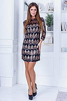 Вечернее нарядное красивое короткое приталенное платье из пайеток р.42-46. Арт-4957/34, фото 1