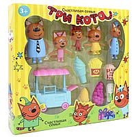 """Игровой набор фигурки Три кота с аксессуарами """"Магазин Мороженного"""" 5 в 1"""