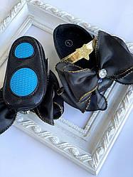 Пінетки оптом чорні туфельки з великим бантом