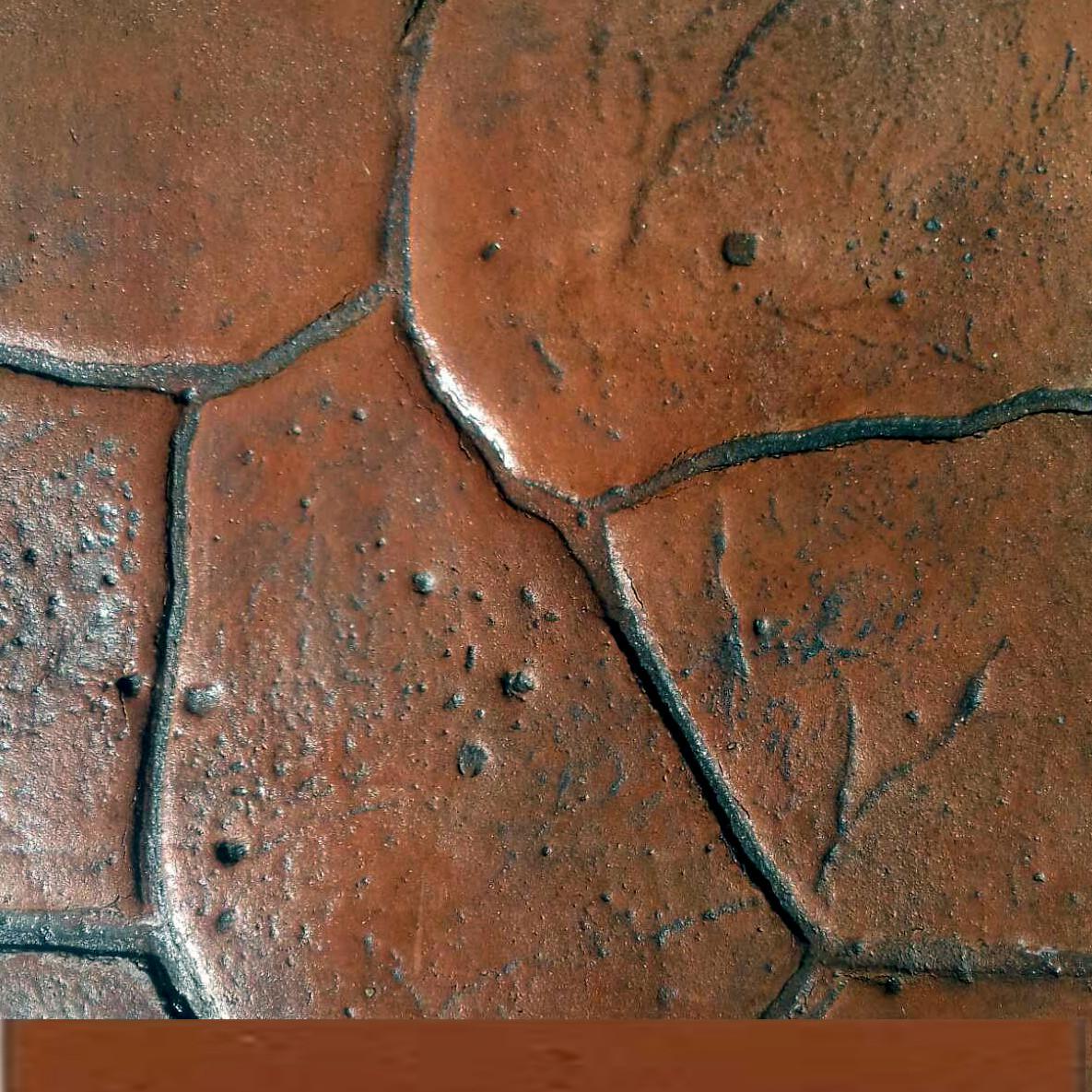 Комплект (оранжевый) на 10 м² необходимых материалов для бетона: пластификатор, пигмент, разделитель, лак
