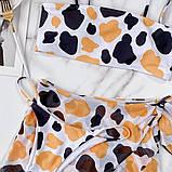 Купальник тройка - плавки, топ и юбка из сеточки, фото 8