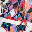 Купальник тройка - завышенные плавки, лиф и кофточка на завязке впереди, фото 3