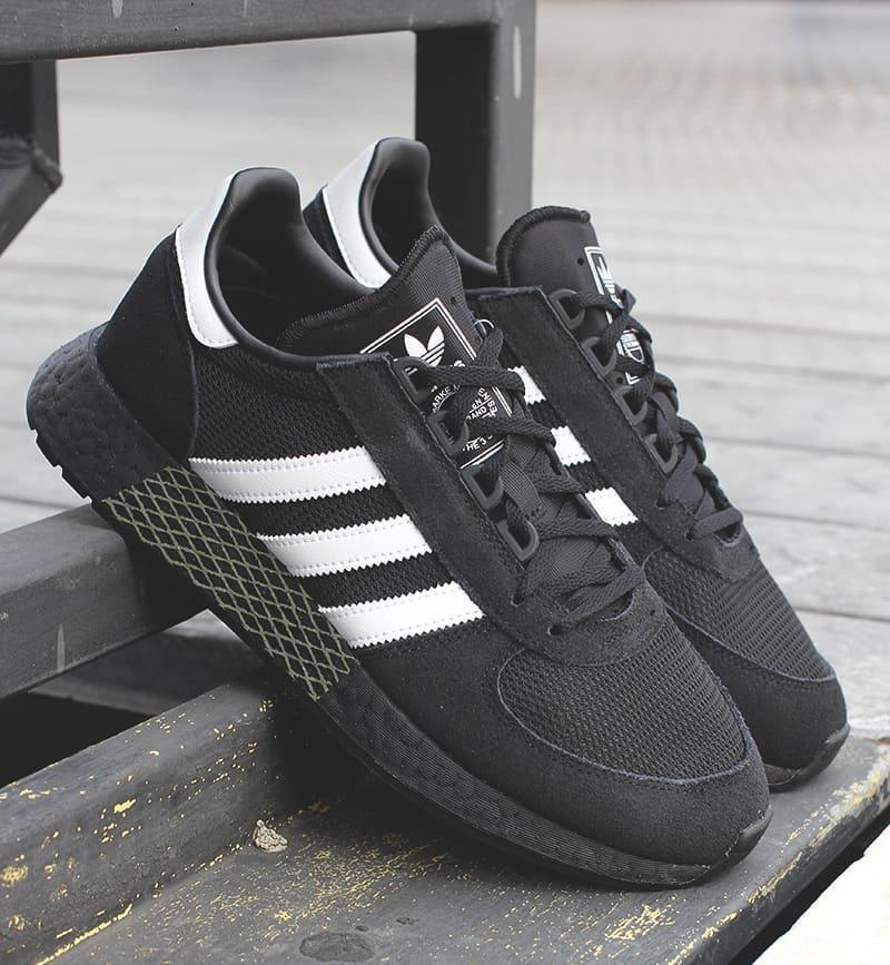 Мужские кроссовки Adidas Marathon в стиле адидас Маратон Черные (Реплика ААА+)