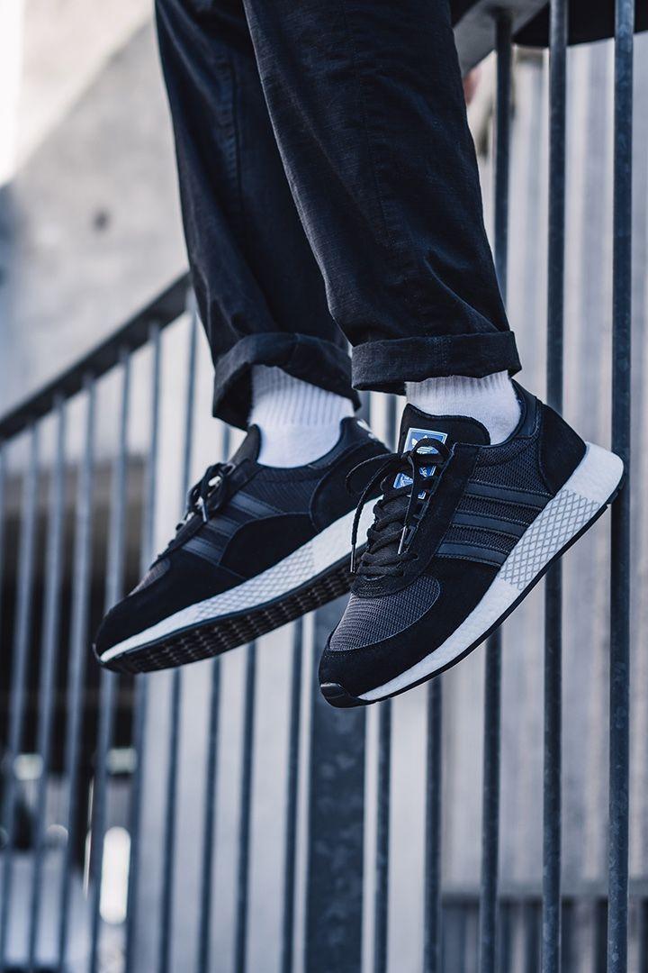 Чоловічі кросівки Adidas Marathon в стилі адідас Маратон Чорні (Репліка ААА+)