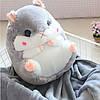 Плед - іграшка Хом'як 3 в 1 Happy Toys Сірий (плед+іграшка+подушка)