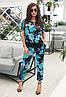 Молодіжний літній жіночий брючний костюм з тонкої тканини шовк армані, фото 3