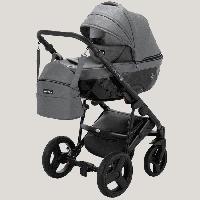 Детская коляска 2 в 1 Richmond Crystal темно-серый 100% кожа