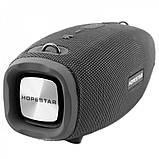 Портативна колонка Hopestar H41, стерео колонка Bluetooth c пило-вологозахистом, бездротова Сіра, фото 2