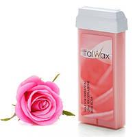 Віск для депіляції картридж касета ItalWax Rose (Rosa) 100 г - троянда