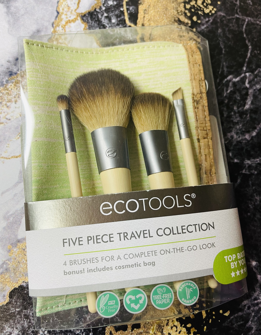 Набор кистей для макияжа Ecotools Five piece travel set