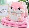 Плед - игрушка Хомяк 3 в 1 Happy Toys Розовый (плед+игрушка+подушка)