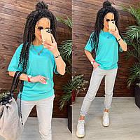 Жіночий літній Костюм штани + кофтинка оверсайз (розмір: 42,44,46,48 -525грн 50,52,54-570грн колір багато), фото 1