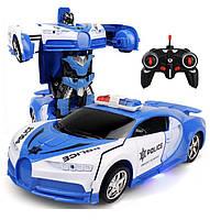 Машинка-трансформер на радиоуправлении Yijun аккумуляторная Синяя 921-3