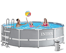 Каркасний басейн Intex 26718 FR (3785 л/год) 366x122 см + Насос-фільтр+ сходи