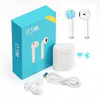 Бездротові навушники з сенсорним управлінням Unit i11 TWS Sensor Stereo Bluetooth 5.0. Колір білий