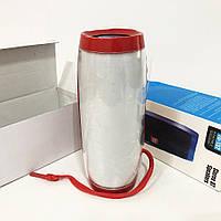 Портативна bluetooth колонка вологостійка TG-157 Pulse з різнокольоровою підсвіткою. Колір червоний