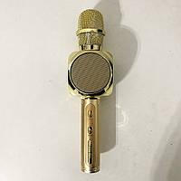 Бездротовий Bluetooth Мікрофон для Караоке Мікрофон DM Karaoke Y 63 + BT. Колір: золотий