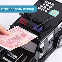Машинка копилка с кодовым замком и отпечатком Cash Truck Черная, фото 3