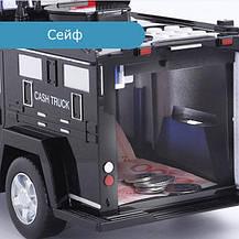 Машинка скарбничка з кодовим замком і відбитком Cash Truck Чорна, фото 3