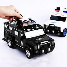 Машинка копилка с кодовым замком и отпечатком Cash Truck Белая, фото 3