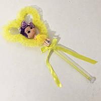Лялька, яка світиться на паличці. Жовта. 3 режими мерехтіння