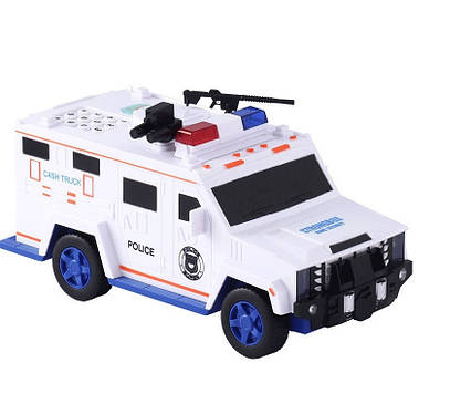 Машинка копилка с кодовым замком и отпечатком Cash Truck Белая, фото 2