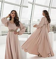 Женское льняное длинное платье.Размеры:42/48+Цвета
