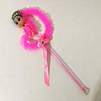 Лялька, яка світиться на паличці. Рожевий місяць. 3 режими мерехтіння