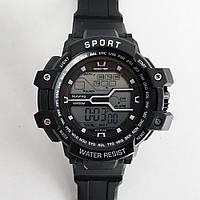 Годинник наручний, електронний, з підсвічуванням. Колір: з сірими вставками