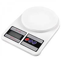 Весы кухонные электронные Domotec SF-400 с LCD дисплеем Белые до 10 кг