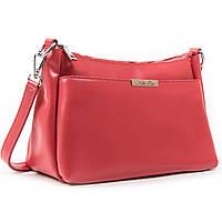 Жіноча сумка червона через плече крос-боді шкіра А. Rai класична сумочка з натуральної шкіри, фото 1