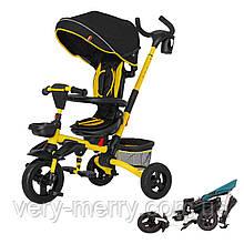Коляска-велосипед трехколесный TILLY FLIP T-390 (желтый цвет)