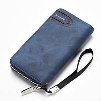 Мужское портмоне Baellerry Denim S1514. Цвет: синий