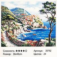 Картина по номерам: Город у моря. Размеры: 30 х 40 см. Рисование красками по номерам